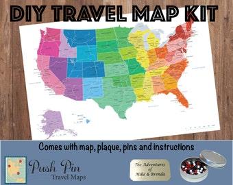Travel Map Etsy