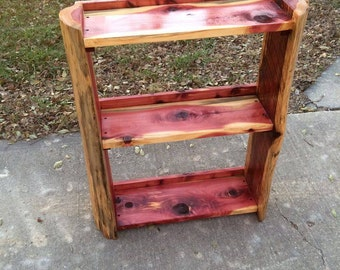 3 Shelf Cedar Bookcase