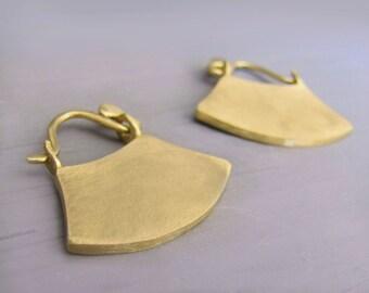 ancient earrings, gold earrings hoop, gold earrings 14k, gold boho earrings, antique earrings, daphne art jewelry