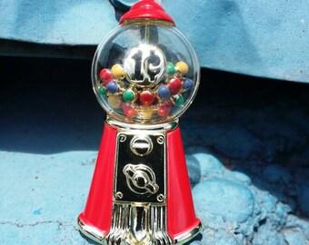 "Hard To Find 3D Vintage High Quality Goldtone Metal Bubblegum Machine Brooch Pin by AJC~2""H"