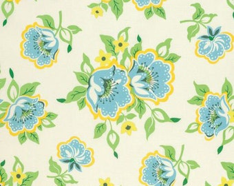 Nicey Jane Church Flowers in Blue by Heather Bailey for Free Spirit Fabrics HB073- Half Yard or By the Yard