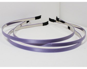 3pcs - Violet 5MM satin head band, hair band supply [FL-40]