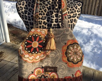 Chloe, handbag, tote, purse, one of a kind, bucket style, shoulder bag, handmade