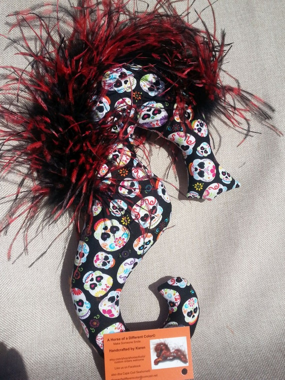 sugar skull Halloween mobile gift decor decoration ostrich