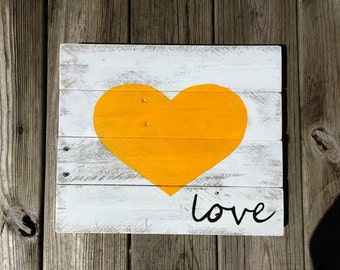 Heart Full of Love - Yellow/Whitewash/Black