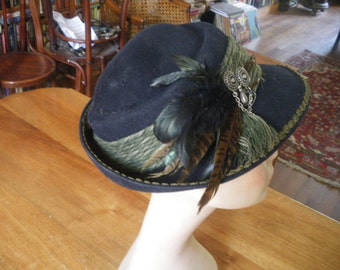 mayser original vintage tiroler woollen hat with adornments in very good condition