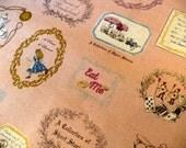 Alice in Wonderland Fabric. Kokka kawaii Alice in Wonderland Fabric. Kokka Fabric Half Yard. Quilting Fabric