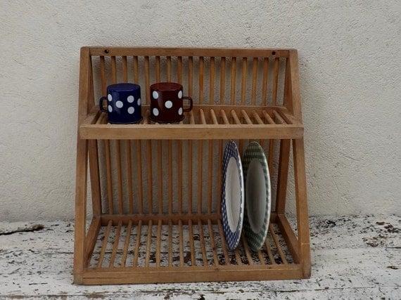 plate rack vintage wooden plate rack wall mounted plate rack. Black Bedroom Furniture Sets. Home Design Ideas