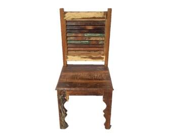 Beautiful Slate Wood Garden Chairs