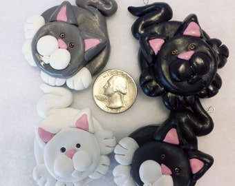 Custom Cat Ornament (Front-Facing)