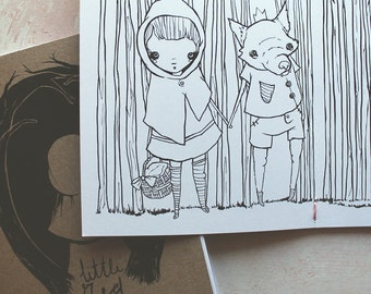 Little Red Riding Hood & the Wolf, the fairy tale coloring book