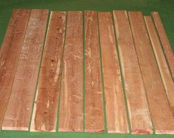 Eastern Red Cedar boards - 19 pcs. Total - Item #16005