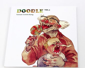 Doodle Vol.1 Art Book_ConniekangArt (Free domestic shipping)