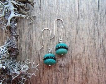 Teal amazonite earrings Gemstone dangle earrings Teal earrings Silver earrings Gemstone earrings Spinel and amazonite Amazonite jewelry