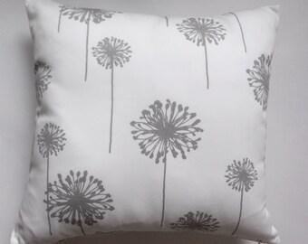 Dandelion Pillow Cover, Decorative Floral Pillow Cover, 18''x18''