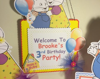Max and Ruby Door Sign  Qty 1