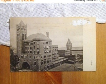 SALE Vintage Canada Postcard,  Union Station, Toronto, Ontario - Early 1900s Paper Ephemera