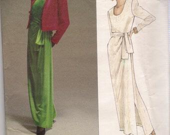 Vogue Paris Original Sewing Pattern 2603, Yves Saint Laurent Jacket, Dress, Sash, Size 8,10,12