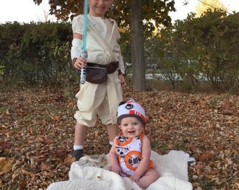 bb8 starwars costume, romper, jumper, halloween, birthday, baby, toddler, summer spring or fall, boys, girls, romper only, no ruffles
