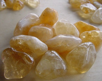 Good Fortune Citrine Nuggets, Pocket Stones, Polished, Absorbs Negative Energy, Protection, Creativity, Happiness, Reiki  Healing,