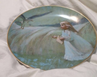 "On Sale Collectible Numbered Plate Precious Moments ""A Friend in the Sky"" Collectible Wall Decor by Thorton Utz"
