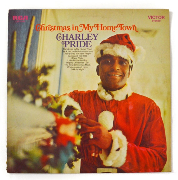 Vintage 70s Charley Pride Christmas In My Home Town Album Record Vinyl LP