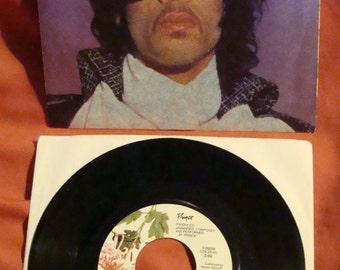 PRINCE When Doves Cry Original Purple Rain 1984 Jukebox Promo 45 Record with Picture Sleeve & Title Strip-!