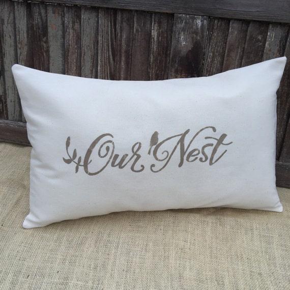 Our Nest Pillow Coverlumbar Pillow Coverburlap Pillow Cover