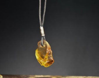 Citrine Natural  PENDANT Nugget Necklace