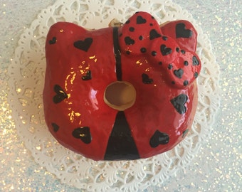 Lady bug inspired deco donut