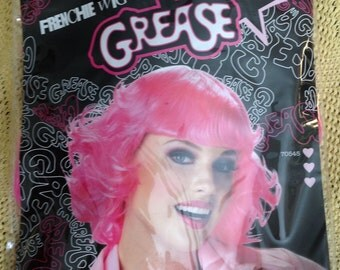 Grease ~ Pink Frenchie Wig ~ Beauty School Drop-Out, Halloween Accessories, Costume Accessories ~ Pink Ladies