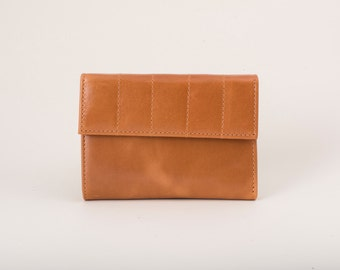 Front pocket wallet, leather slim wallet, caramel brown bifold wallet, women leather wallet, handmade wallets, mother's day gift