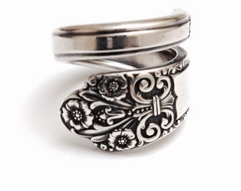 Vintage Silver Spoon Ring - circa 1941