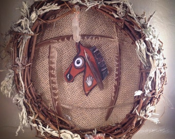 The Spirit Pony Rustic Natural Element Wreath