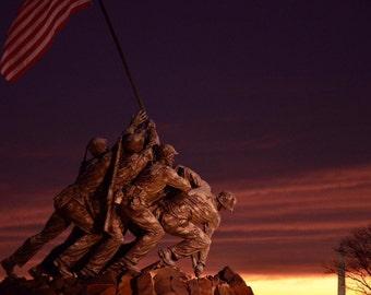 Sunrise at the Iwo Jima Memorial, Washington, DC
