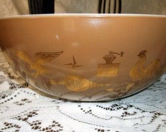 Large Vintage Pyrex Americana 4 Qt Mixing Bowl..... Mid Century Pyrex Mixing Bowl