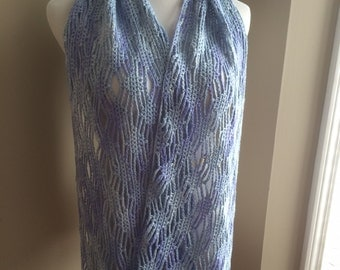 Hand Crocheted Scarf / Shawl / Wrap
