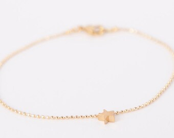 Bracelet Gold Star Love Chain Plated Stars Gold Plated Ballchain Chain Gold Plated Starlet