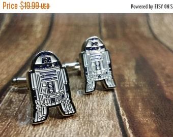 Fathers day sale R2D2 Star Wars cufflink - Driod cufflink