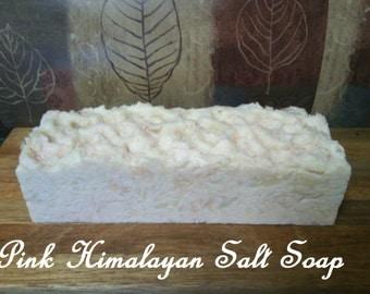 Himalayan Salt Soap Bar, exfoliating, natural skin care, home spa, bulk soap, soap loaf,