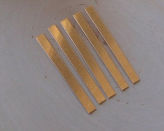 5pc 20 gauge bronze strips 1/4 inch by 3 1/2 inch, bronze stamping blanks, tie bar blanks