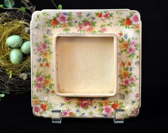 Antique Chintz dish, vintage china serving dish, floral serving plate
