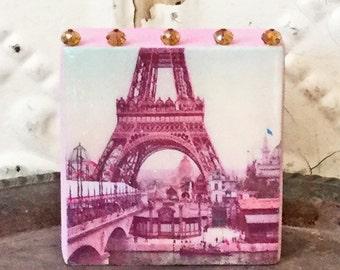 Eiffel Tower Art Block