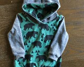 French Terry Stripe Hoodie for Babies and Kids - You Choose Print