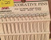 """Mangelsen's Craft Supplies: Decorative Pins 2"""" Pearl Head round - White 9 pieces"""