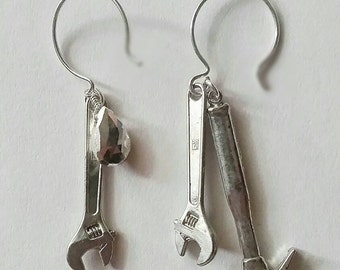 SILVER PYRITE Earrings