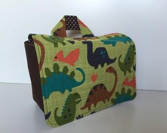 Handlebar Bag 'Dinosaurs' green-brown