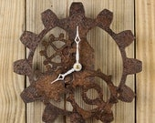 Steampunk Wall Clock, Industrial Gear Clock