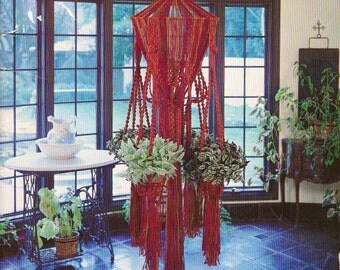 Vintage 1975, Suspended Elegance Macrame Patterns, step by Step Instructions for Some Stunning Macrame Hangings, 10 plant Hangers
