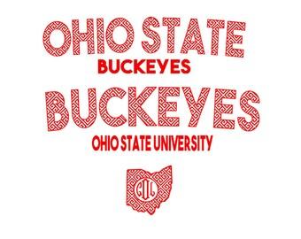 Ohio State Buckeyes Jersey set Retro Print SVG  Eps Pdf PNG STUDIO